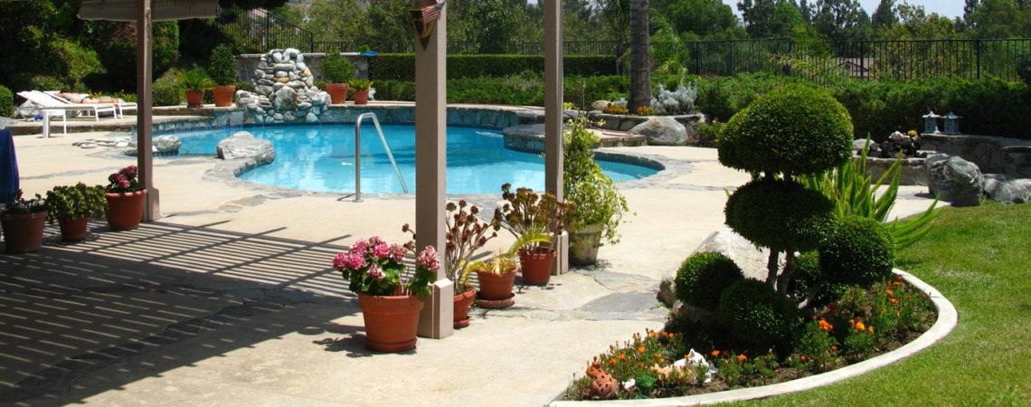 Création d'une piscine et de son jardin paysagé