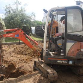 Réalisation de fouilles