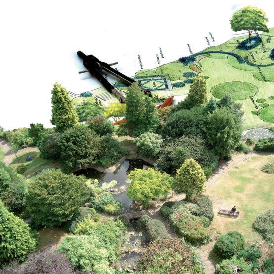 Création de plan pour l'aménagement de jardin